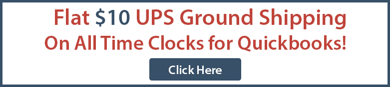 Flat Rate Shipping on All Time Clocks for Quickbooks